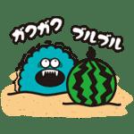 【無料スタンプ】ギャラモン夏|配布期間は2016年7月10日(日)まで