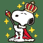 【無料スタンプ】スヌーピー王様スタンプ|配布期間は2016年8月22日(月)まで