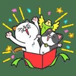 【無料スタンプ】タマ川 ヨシ子(猫)が飛び出す第11弾!|配布期間は2017年1月16日(月)まで