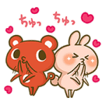 【無料スタンプ】コーすけ×かまってウサちゃんコラボ!|配布期間は2017年3月8日(水)まで