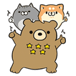 【無料スタンプ】ボンレス犬・猫×エクスベア|配布期間は2017年3月6日(月)まで