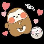 【無料スタンプ】ぽふぽふフク子さんと、こふく☆|配布期間は2017年9月11日(月)まで