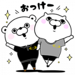 【無料スタンプ】くま&ぬこ100%スタンプ×ライザップ|配布期間は2017年8月28日(月)まで