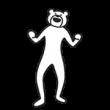 けたたましく動くクマ
