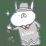 【無料スタンプ】【使える】うさぎ帝国×&Habitコラボ|配布期間は2017年11月6日(月)まで