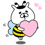 【無料スタンプ】ゆるうさぎ×山田養蜂場|配布期間は2017年12月18日(月)まで