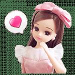 【無料スタンプ】LINE プレイ×リカちゃん|配布期間は2018年1月7日(日)まで