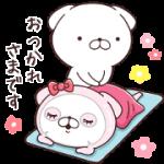 【無料スタンプ】ルルルン♡いぬまっしぐら|配布期間は2018年4月9日(月)まで
