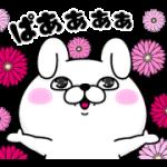 【無料スタンプ】うさぎ100%×VISコラボスタンプ 配布期間は2018年4月23日(月)まで