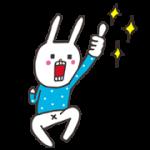 【無料スタンプ】「カルピスウォーター」×ウサギのウー 配布期間は2018年5月21日(月)まで