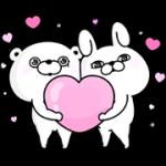 【無料スタンプ】うさぎ&くま100%×ファビウス|配布期間は2018年7月2日(月)まで