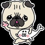 【無料スタンプ】パグちゃん×コポたん|配布期間は2018年7月30日(月)まで