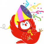 【無料スタンプ】フクロウのヨヨキー3 by 代ゼミ|配布期間は2018年10月8日(月)まで