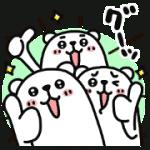 【無料スタンプ】ぷるくまさん☆即レスにグーッ|配布期間は2019年2月25日(月)まで