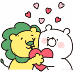 【無料スタンプ】ガーリーくまさん×ライオンちゃん|配布期間は2019年3月25日(月)まで