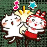【無料スタンプ】しまむら×Honobono「しろねこ」|配布期間は2019年4月1日(月)まで