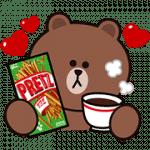 【無料スタンプ】プリッツ×BROWN&FRIENDS|配布期間は2019年4月22日(月)まで