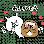 【無料スタンプ】ゆるうさぎ×フク子さん&こふく|配布期間は2019年6月3日(月)まで
