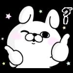 【無料スタンプ】うさぎ100%×dマガジン|配布期間は2019年9月22日(日)まで
