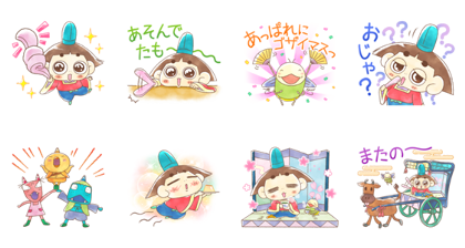 LINE パズル タンタン×おじゃる丸