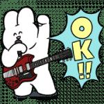 【無料スタンプ】うさロック×LINEスコア|配布期間は2019年10月16日(水)まで