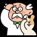 【無料スタンプ】やんちゃイヌ(助手)とポイント博士|配布期間は2019年12月4日(水)まで