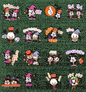 ミッキー&フレンズ(らくがきハロウィン)