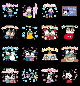 ミッキー&フレンズ(らくがきウィンター)