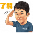 Team Visa アスリートスタンプ