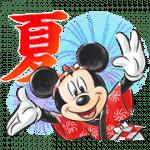 【限定スタンプ】ミッキー&フレンズ(夏)|配布期間は2020年12月27日(日)まで