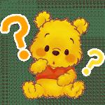 【限定スタンプ】くまのプーさん(もこもこ)|配布期間は2020年12月27日(日)まで