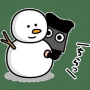 【無料スタンプ】クロコくん 2020-21年冬ver.|配布期間は2021年3月9日(火)まで