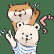 【無料スタンプ】可愛い嘘のカワウソ×ニトリのシロクマ|配布期間は2021年3月15日(月)まで